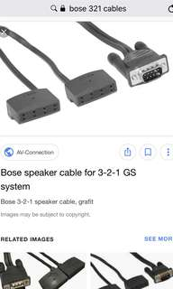 Bose speaker cable for 321 series