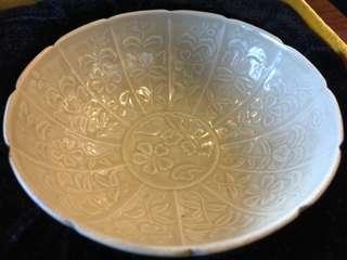 🚚 定窯 印花碗 一對 拍賣等級