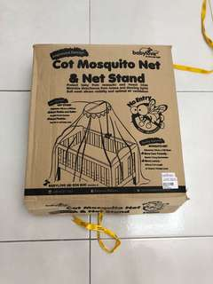 Baby Cot Mosquito Net & Net Stand