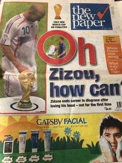 World Cup 2006 finals New Paper