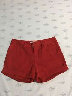 Bright Red Shorts