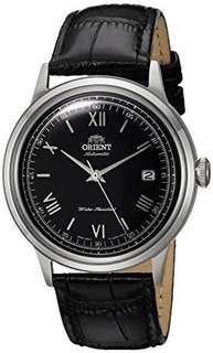only hk$799, 100% new Orient  3 Men's '2nd Gen. Bambino Ver. 2' Japanese Automatic Stainless Steel and Leather Dress Watch, Color:Black (Model: FAC0000AB0)手錶