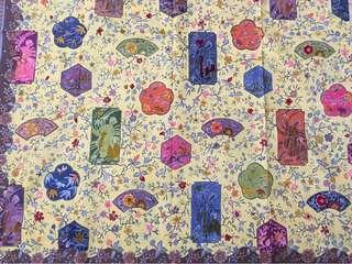 Japanese Motif Hand Drawn Batik (Batik Tulis) Antique Colour