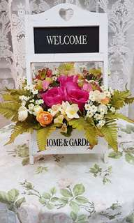 Vintage Romantic English Country Welcome Flower Arrangement