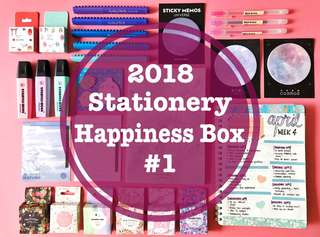 ⭐️ 2018 Stationery / Bullet Journal Supplies Happiness Box #1 ⭐️