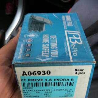 NEW preve/exora rear brake pad