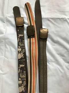 Belts for boys (Set of 3)