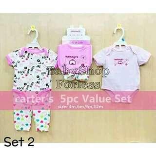 5pc Baby Onesie Set - SET #2