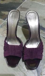 🚚 Charles & Keith Heels deep purple 10 cm high
