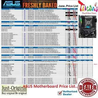 "ASUS Z370.... to Z270..... Motherboard Price List...   Interested...!! ""Start Order Today or Walk in Direct for Cheaper Offer rate"" (June 2018 #price list ) # PRICE LIST# ""From $38-$1059..."" ( Thomson Area)"