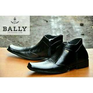 Sepatu Pantofel Bally Leather Kulit Asli