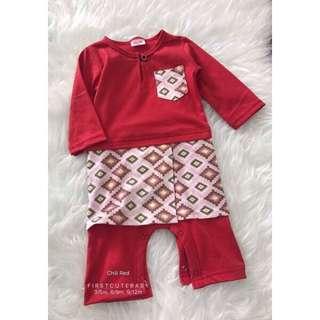 Romper Baju Melayu (red chilli)