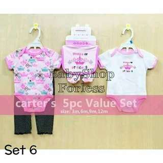 5pc Baby Onesie Set - SET #6