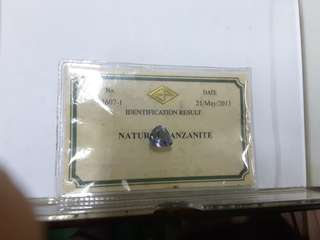 Tanzanite with cert.