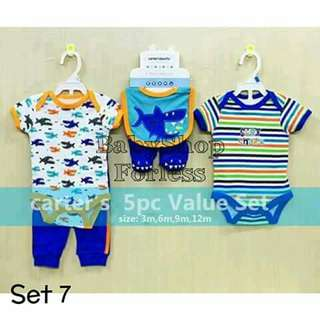 5pc Baby Onesie Set - SET #7