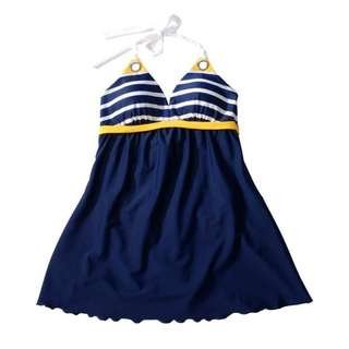 europe striped style swimsuit --- 100% New.