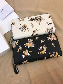 Floral Purse Original Coach women long wallet women purse pouch coin