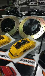 2months old 6pots big brake kit bbk with 356mm rotor 4sale cheap