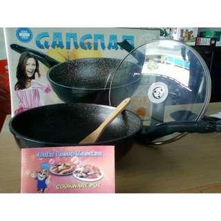 Panci Gangnam Wok Pan Made Korea Wajan Anti Lengket 30Cm