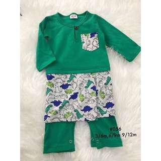 Romper Baju Melayu (green-dino)