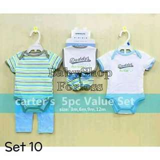 5pc Baby Onesie Set - SET #10