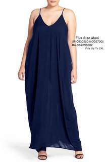PLUS SIZE MAXI  💋Plus Size Maxi Dress 💫Cotton fabric, soft stretch 💫Oversized casual cut 💫Free size fits up to XXL or semi XXXL 💫3 colors 💫Good quality  Price : 390