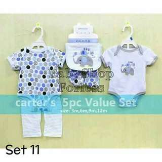 5pc Baby Onesie Set - SET #11