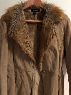 Fur collared winter jacket