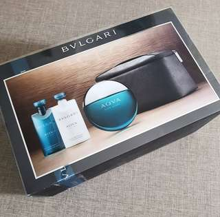 Men Shower Set by Bvlgari Aqua