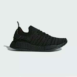 Adidas NMD R1 STLT Primeknit Triple Black 100% Original!