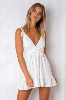 Stella White Linen Dress
