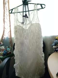Lace Top Sleeveless (preloved)