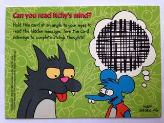 1994 Skybox Simpsons Series 2 - Base Card I12 - Fun Card / Read Itchy's Mind