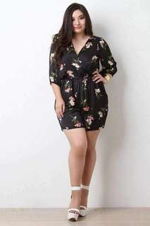 #006 🌺Plus size floral jumpshort
