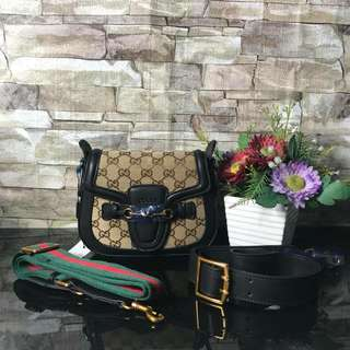 Gucci lady web canvas small