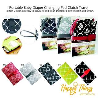 Portable Baby Diaper Changing Pad Clutch Travel