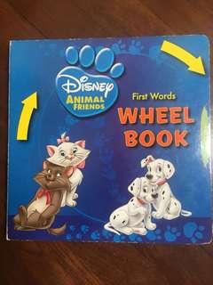 Disney Animals  First Words wheel book