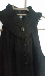 Saks Fifth Avenue Black halter top / blouse