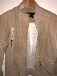 Zimmerman. Crop tan jacket