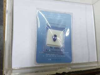 Tanzanite with cert..