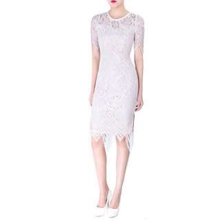 Doublewoot Daelami white lace dress
