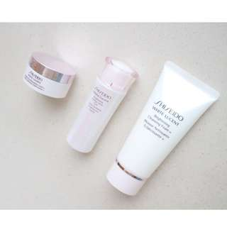 SHISEIDO White Lucent Brightening Cleansing Foam & Toning Lotion & Cream