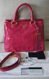 Prada Vitello Shine Tote (Price Reduced RM2,800)