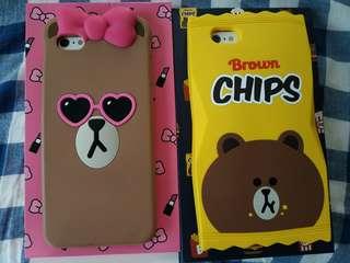 正版原裝Line Brown/Choco iPhone 6/6s Case