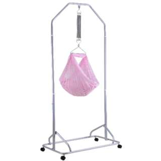 Baby Safety Spring Cot Stand (Epoxy) + Cradle Net (Head Cover) + Polar Baby Cradle Springs (7 Springs)