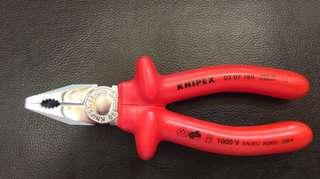 Knipex 1000v 絕緣平鉗 德國製