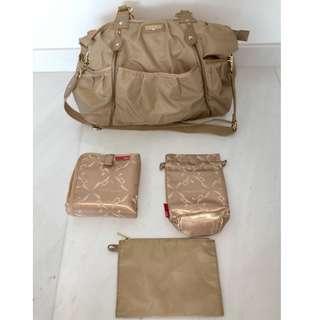 Storksak Olivia Champagne Diaper Bag