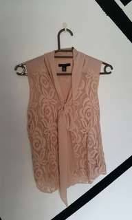 Tommy hilfiger Old rose lace blouse sleeveless top