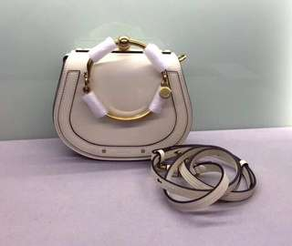 Chloe Nile Leather Bracelet Bag Calfskin Small Size: W19.5 x H16 x D6.5 Strap:max58cm Real and New