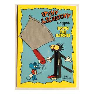 1994 Skybox Simpsons Series 2 - Base Card #I5 - Down the Hatchet
